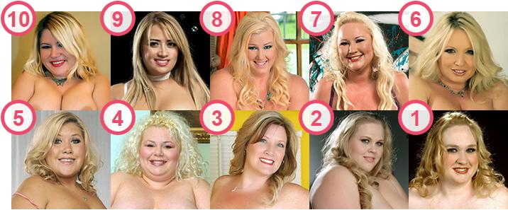 TOP 10 hottest BBW Blonde porn-stars and cam girls