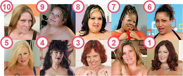 TOP 10 Older over 50 but still stunning BBW webcam and porn stars